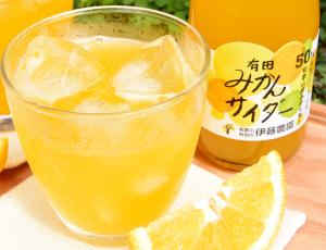 『みかんサイダー』が有田みかん果汁50%配合でリニューアル!
